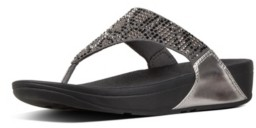 FitFlop Women's Lulu Leopard-Crystal Wedge Sandal Women's Shoes