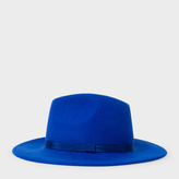 Paul Smith Women's Blue Lined Wool Fedora Hat