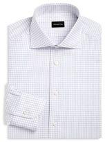Ermenegildo Zegna Cotton Grid Print Dress Shirt