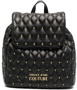 Versace Jeans Couture Diamond-Quilting Faux-Leather Backpack