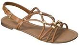 Xhilaration Women's Dessa Braided Strappy Flat Sandal - Assorted Colors