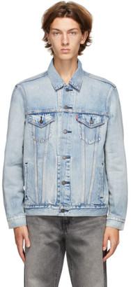 Levi's Levis Blue Denim Virgil Trucker Jacket