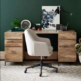west elm Industrial Modular Desk Set 2 Box Files