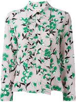 Marni Sistowbell print frill shirt