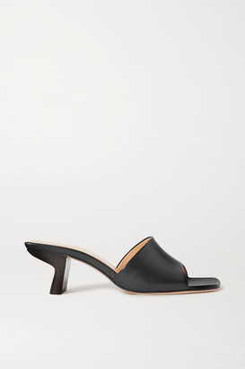 BY FAR Lily Leather Mules - Black