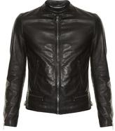 Dolce & Gabbana Zip-up Leather Bomber Jacket