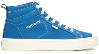 Cariuma x Pantone OCA High Pantone Classic Blue Canvas Contrast Thread Sneaker