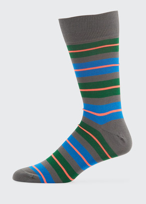 Paul Smith Men's Donnie Neon Stripe Socks