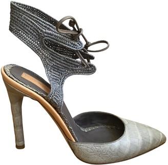 Reed Krakoff Grey Crocodile Heels