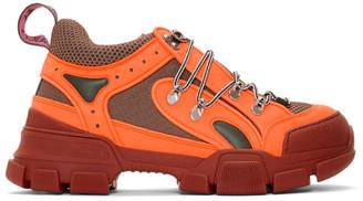 Gucci Orange Flashtrek Sneakers