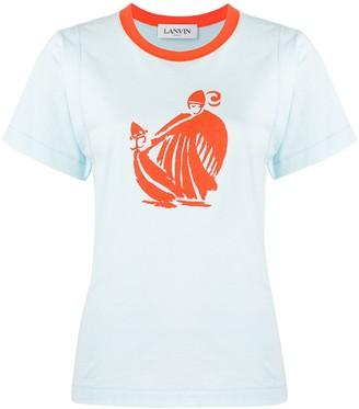 Lanvin graphic print cotton T-shirt