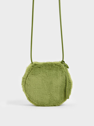 Charles & Keith Textured Mini Crossbody Bag