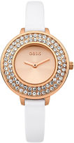 """Oasis White Leather Strap Watch [span class=""""variation_color_heading""""]- White[/span]"""
