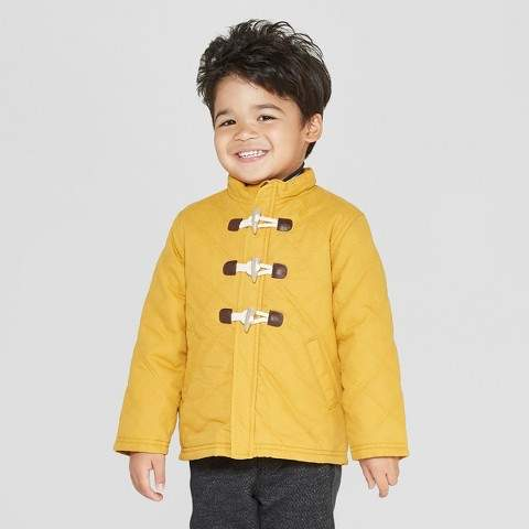 aa0386695 Genuine Kids from OshKosh Genuine Kids® from OshKosh Toddler Boys' Long  Sleeve Quilted Barn Jacket - Mustard Yellow