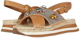 Tory Burch Daisy Crystal Sandal (Desert Camel/Multi) Women's Shoes