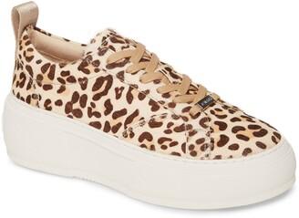 J/Slides Courto Genuine Calf Hair Platform Sneaker