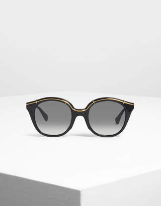Cat Eye Charles & KeithCharles & Keith Metallic Accent Shades