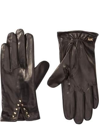 MICHAEL Michael Kors Leather Studded Gloves