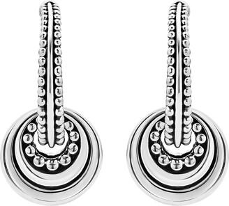 Lagos Signature Caviar Disc Charm Hoop Earrings