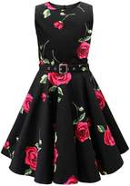 Black Butterfly Clothing Black Butterfly Kids 'Audrey' Vintage Infinity 50's Dress (, 3-4 YRS)