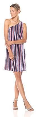 Paris Sunday Women's One Shoulder Pleated Trapeze Dress