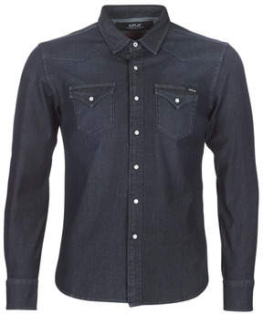 Replay men's Long sleeved Shirt in Blue