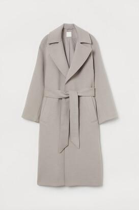 H&M Belted Felted Coat