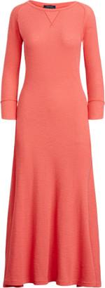 Ralph Lauren Waffle-Knit Henley Dress