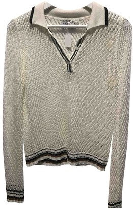 Non Signé / Unsigned Non Signe / Unsigned White Linen Knitwear for Women