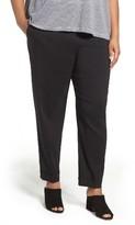 Eileen Fisher Plus Size Women's Organic Linen Blend Slim Ankle Pants