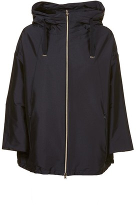 Herno Hooded Cropped Sleeves Jacket