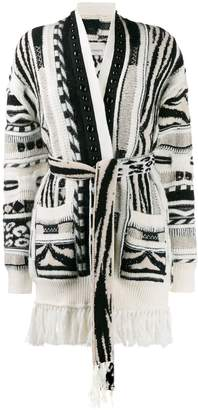 Laneus open front knitted cardigan