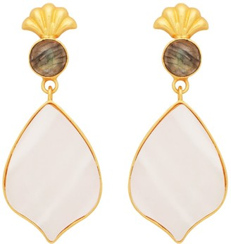 Carousel Jewels Delicate Shell & Labradorite with Mother Of Pearl Drops