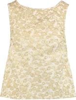 Rochas Bow-embellished brocade top