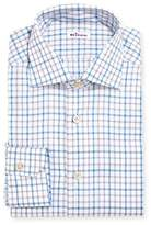 Kiton Check Cotton Dress Shirt