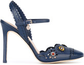 Tory Burch flower cut-out pumps - women - Leather - 9