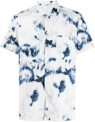 Low Brand Short Sleeve Bleached-Effect Shirt