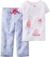 Carter's Girls 4-14 Short Sleeve Fleece Pajama Set