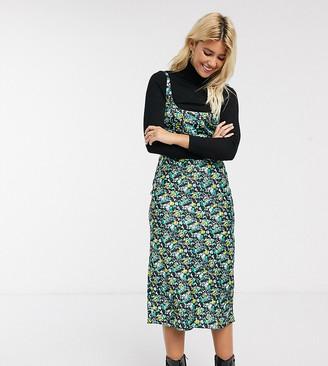 Reclaimed Vintage inspired 90s satin cami midi dress in floral print