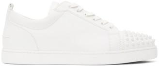 Christian Louboutin White Louis Junior Spikes Sneakers