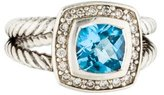 David Yurman Topaz & Diamond Petite Albion Ring