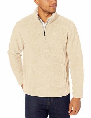 Amazon Essentials Men's Sherpa Fleece Quarter-Zip Pullover