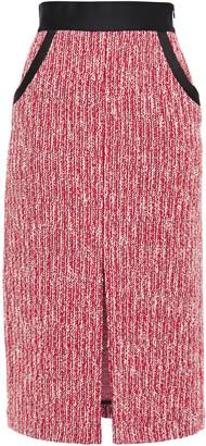 Maje Split-front Boucle Midi Pencil Skirt