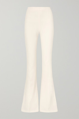 Safiyaa Halluana Stretch-crepe Flared Pants - Ivory