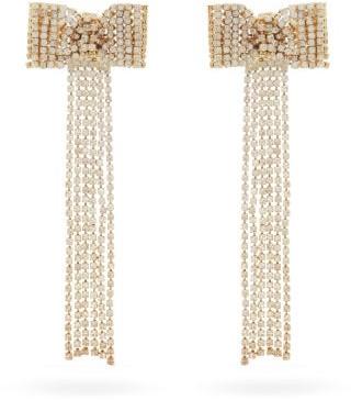 Rosantica Campana Crystal-embellished Bow Earrings - Crystal