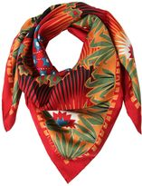 Valentino Volcano & Stars Printed Silk Twill Scarf
