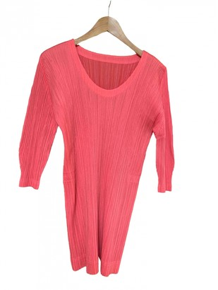 Pleats Please Pink Polyester Dresses