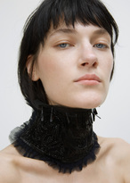 Dries Van Noten black gigino beaded collar