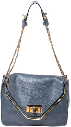 Chloé Grey Leather Medium Sally Flap Shoulder Bag