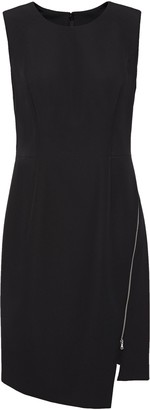Milly Asymmetric Zip-detailed Cady Mini Dress